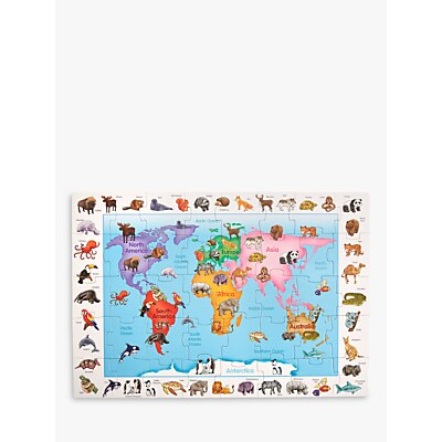 Picture of John Lewis & Partners Animals Of World Floor Jigsaw Puzzle, 40 Pieces