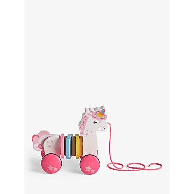 Picture of John Lewis & Partners Wooden Pull Along Unicorn