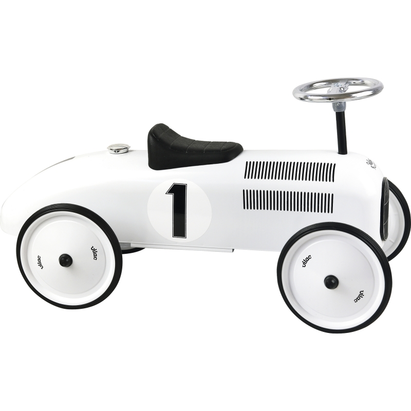 Picture of Vilac Classic Ride On Metal Car- Polar White
