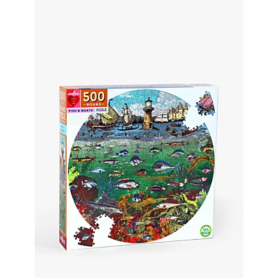Picture of eeBoo Fish & Boats Jigsaw Puzzle, 500 Pieces