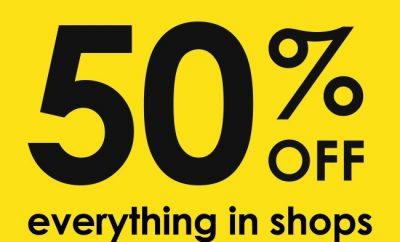 Hawkin's Bazaar Closing Down Sale - 50% OFF everything in shops