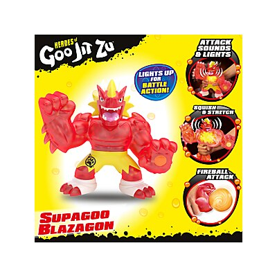 Picture of Heroes of Goo Jit Zu Supagoo Blazagon Squishy Action Figure