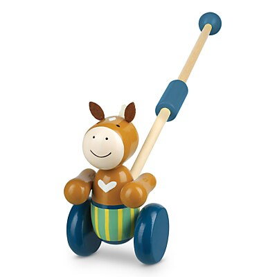 Picture of Orange Tree Wooden Pony Push-Along Toy