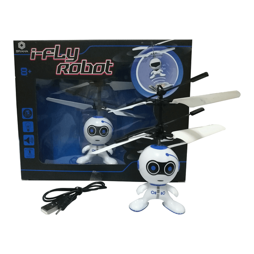 Picture of Braha i-Fly Infrared Control Robot - Blue