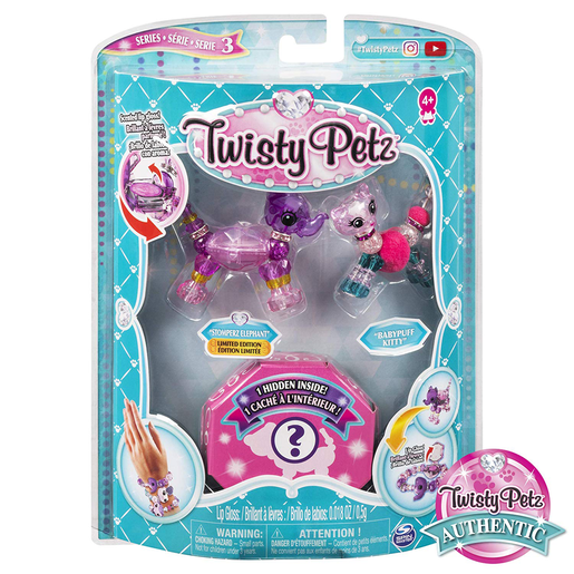 Picture of Twisty Petz Three Pack Series 3 - Stomperz Elephant and Babypuff Kitty