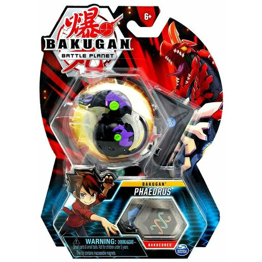 Picture of Bakugan 5cm Tall Action Figure and Trading Card - Phaedrus