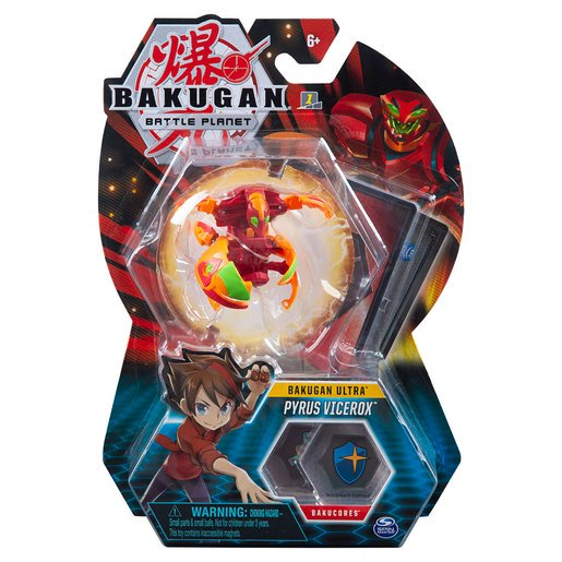 Picture of Bakugan 5cm Tall Action Figure and Trading Card - Pyrus Vicerox