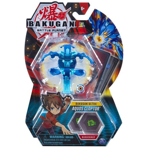 Picture of Bakugan 8cm Ultra Action Figure and Trading Card - Aquos Cloptor