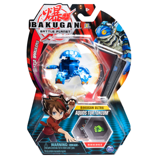 Picture of Bakugan 8cm Ultra Action Figure and Trading Card - Aquos Turtonium