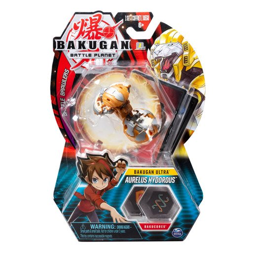 Picture of Bakugan 8cm Ultra Action Figure and Trading Card - Aurelus Hydorous