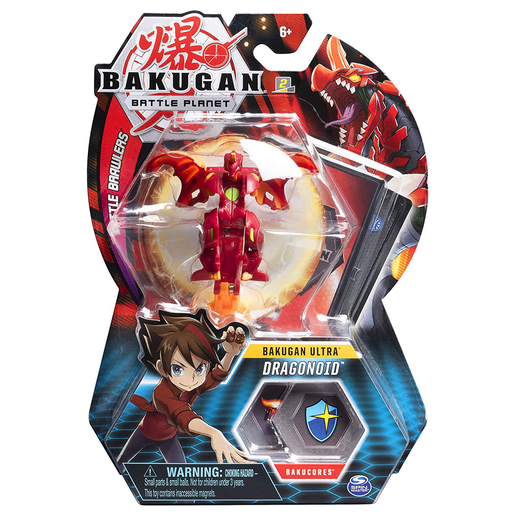 Picture of Bakugan 8cm Ultra Action Figure and Trading Card - Dragonoid