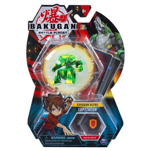 Picture of Bakugan 8cm Ultra Action Figure and Trading Card - Lupitheon