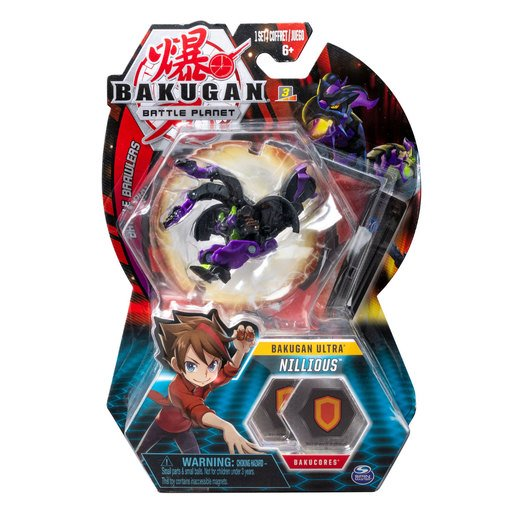 Picture of Bakugan 8cm Ultra Action Figure and Trading Card - Nillious