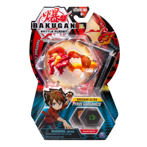 Picture of Bakugan 8cm Ultra Action Figure and Trading Card - Pyrus Garganoid