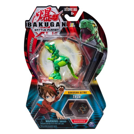 Picture of Bakugan 8cm Ultra Action Figure and Trading Card - Trox