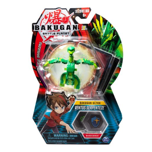 Picture of Bakugan 8cm Ultra Action Figure and Trading Card - Ventus Serpenteze