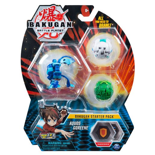 Picture of Bakugan Starter 3 Pack Action Figure - Aquos Goreene