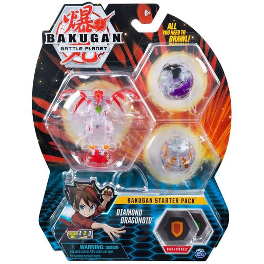 Picture of Bakugan Starter 3 Pack Action Figure - Diamond Dragonoid