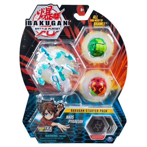 Picture of Bakugan Starter 3 Pack Action Figure - Haos Pyravian