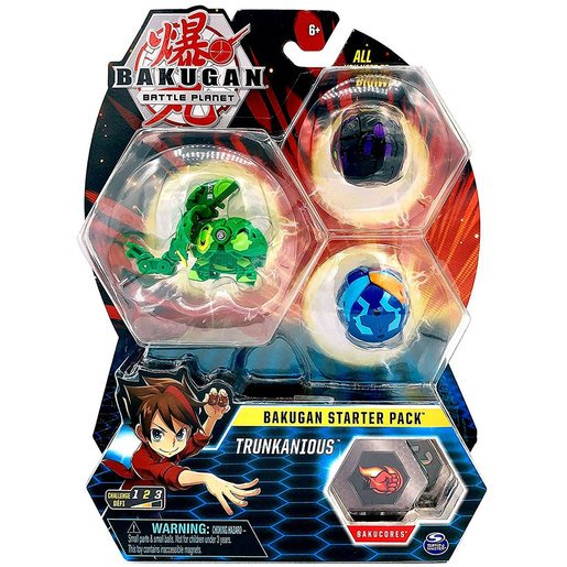 Picture of Bakugan Starter 3 Pack Action Figure - Trunkanious