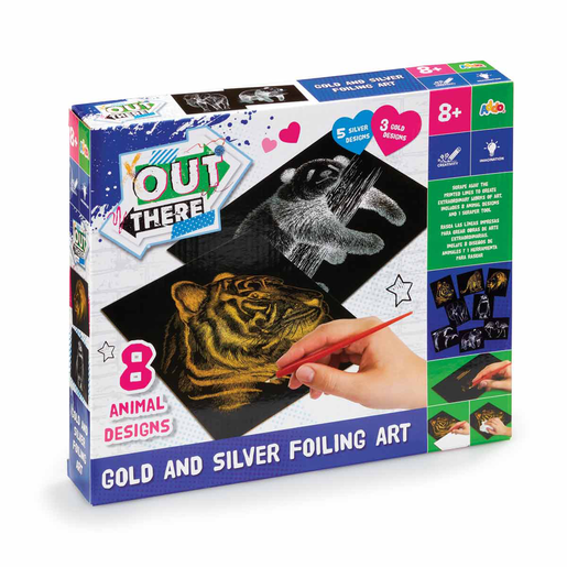 Picture of Out There Gold and Silver Foiling Art