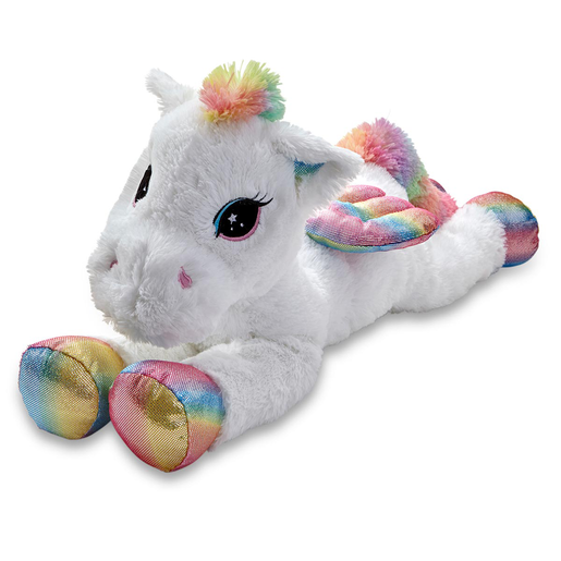 Picture of Snuggle Buddies 80cm Laying Unicorn - Pegasus
