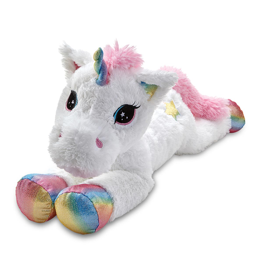 Picture of Snuggle Buddies 80cm Laying Unicorn - Rainbow Star