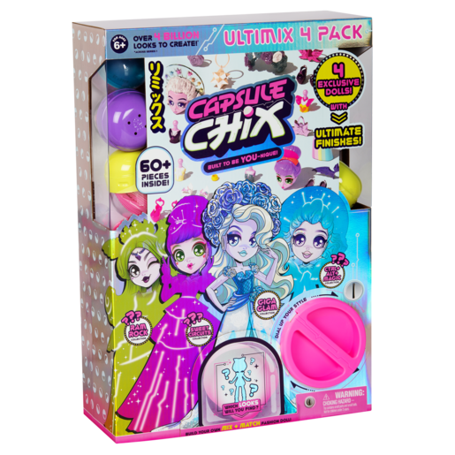 Picture of Capsule Chix Ultimate Pack of 4 Dolls