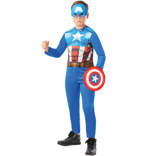 Picture of Marvel Avengers Captain America Fancy Dress Costume Box Set
