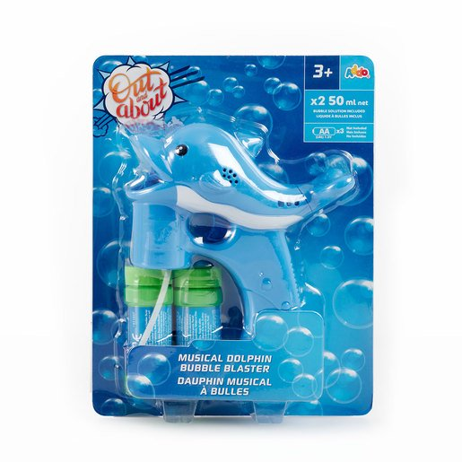 Picture of Out & About Musical Dolphin Bubble Blaster