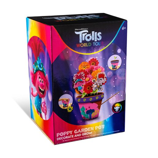 Picture of DreamWorks Trolls World Tour Decorate Your Own Garden Pot - Poppy
