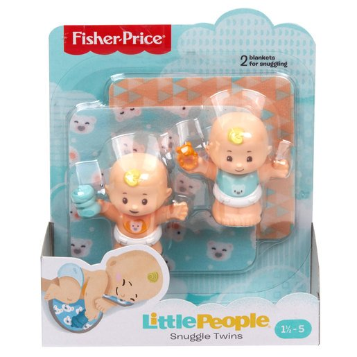 Picture of Fisher-Price Little People Snuggle Twin Figures - Bear Twins