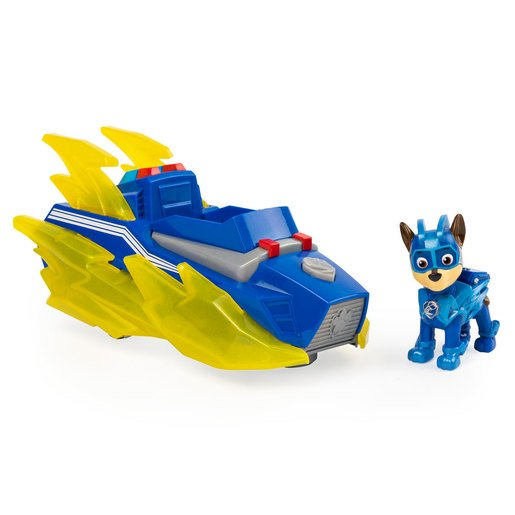 Picture of Paw Patrol Mighty Pups Charged Up Deluxe Vehicle - Chase