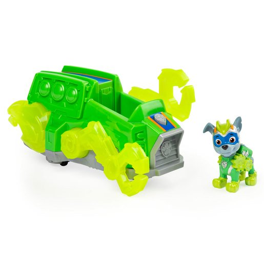 Picture of Paw Patrol Mighty Pups Charged Up Deluxe Vehicle - Rocky