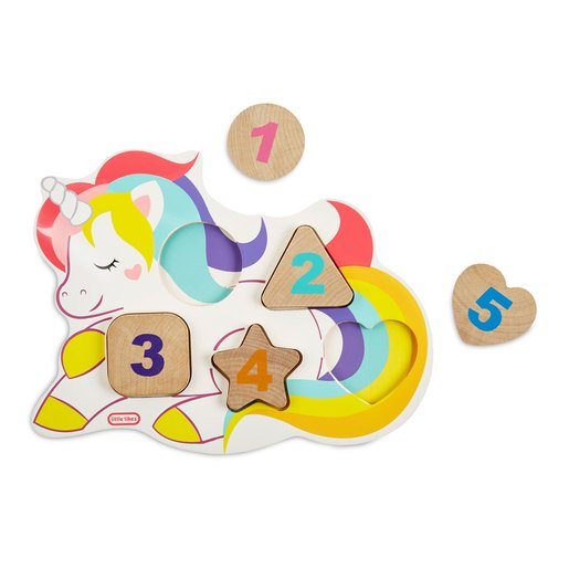 Picture of Little Tikes Wooden Critters Unicorn Number Puzzle