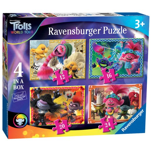 Picture of Ravensburger DreamWorks Trolls World Tour 4 In A Box