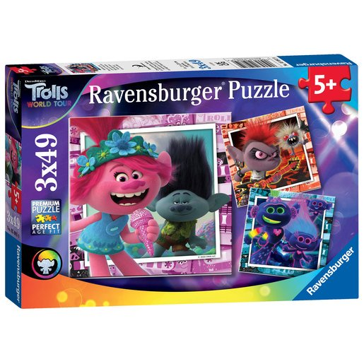 Picture of Ravensburger DreamWorks Trolls World Tour 3 In A Box Puzzle
