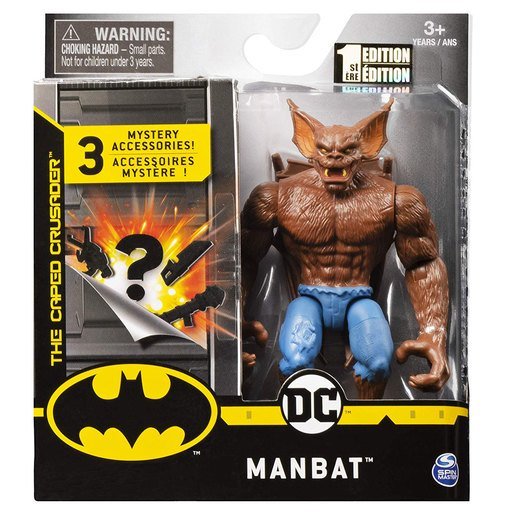 Picture of DC Comics The Caped Crusader 10cm Figure with 3 Mystery Accessories - Manbat