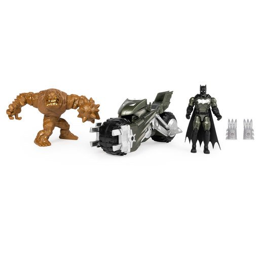 Picture of DC Batman The Caped Crusader - Batcycle with Batman and Clayface Figures