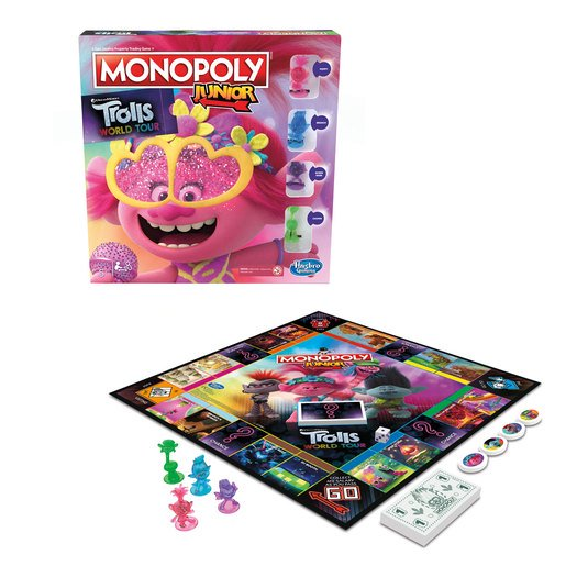 Picture of Monopoly Junior DreamWorks Trolls World Tour