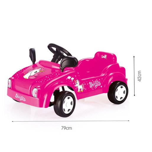 Picture of Dolu Pedal Unicorn Smart Car Ride-On - Pink