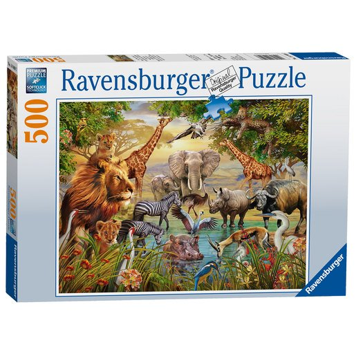 Picture of Ravensburger Animals At The Waterhole Puzzle - 500pc