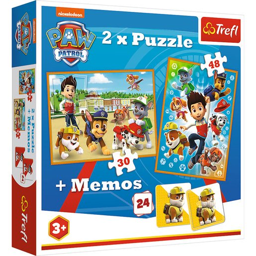 Picture of Trefl Paw Patrol 2 Pack of Puzzles and Memory Game