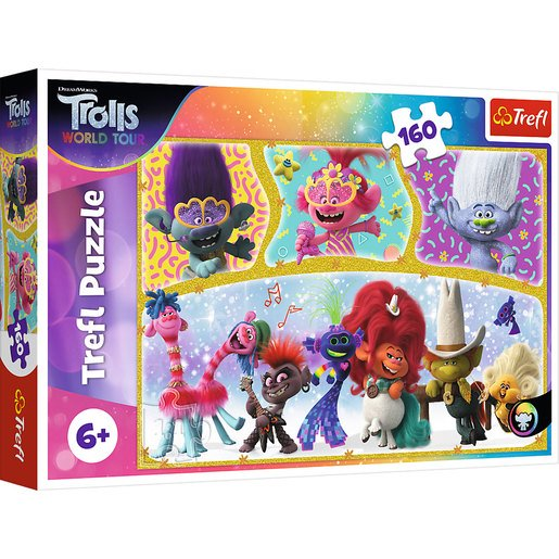 Picture of Trefl DreamWorks Trolls World Tour Puzzle - 160pcs.