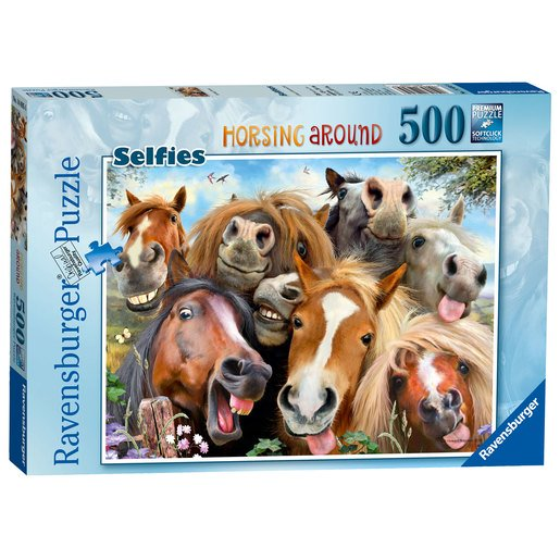 Picture of Ravensburger Selfies Horsing Around Puzzle - 500pc