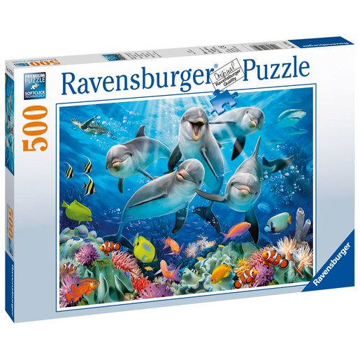 Picture of Ravensburger Dolphins Puzzle - 500pc