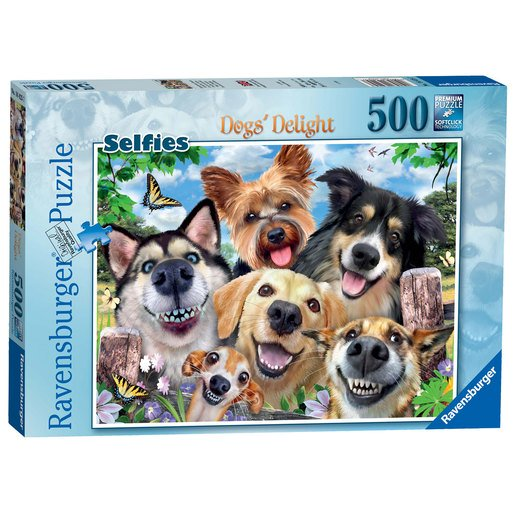 Picture of Ravensburger Selfies Dogs' Delight Puzzle - 500pc