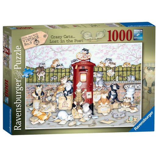 Picture of Ravensburger Crazy Cats Lost in the Post Puzzle - 1000pc