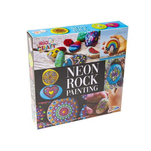 Picture of Rock Painting Kit - Neon