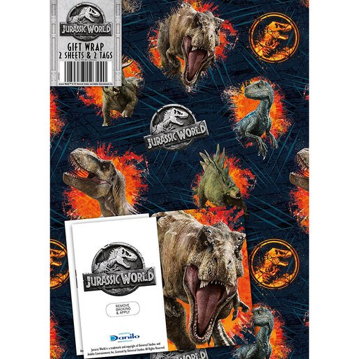 Picture of Jurassic World Wrapping Paper - 2 Sheets and 2 Tags